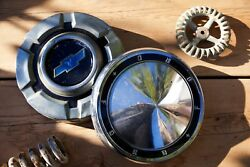 2 Vintage Retro Ford Chevy Hubcap Covers Wall Hanging Automotive Art Wall Decor