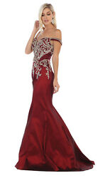 Special Occasion Off Shoulder Red Carpet Taffeta Mermaid Formal Evening Gown