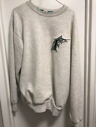 Official Mlb Marlins Pullover Large Grey
