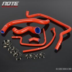 Fit For 86-88 Porsche 944 Non Turbo Silicone Radiator Hose And Free Clamps Kit Red