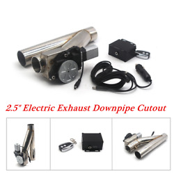 2.5inches Electric Exhaust Downpipe Cutout E-Cut Out Dual-Valve Remote Feasible