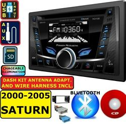 2000-2005 Saturn Am/fm/cd Bluetooth Usb Aux Car Radio Stereo W/ Variable Color