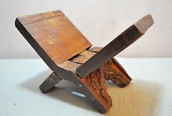 Original Old Antique Hand Crafted Fine Carved Wooden Holy Book Stand