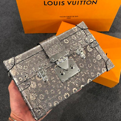 Brand New LV Louis Vuitton Limited Petite Malle Lezard Lizard Ombre Receipt!