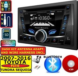 Fits 2007-2016 Tundra Sequoia Bluetooth Usb Cd/mp3/aux Usb Car Radio Stereo Pkg