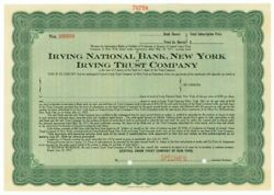 Irving National Bank, Ny And Irving Trust Co