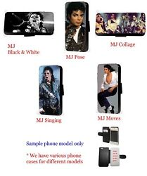 Michael Jackson collage leather wallet phone case for Huawei Samsung