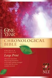 One Year Chronological Bible Premium Slimline, Large Print, Paperback By Ty...