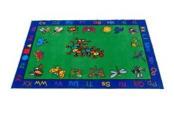5and039 X 8and039 Kritters Rectangle Area Rug Educational School Day Cares Decor Room .