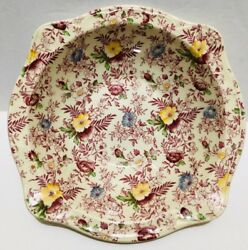 Old English Chintz Pattern Johnson Brother 1 Pc Oval Vegetable Bowl 9'' Across