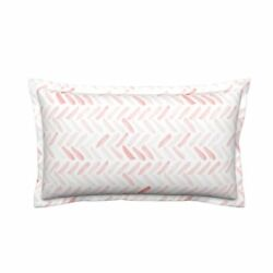 Watercolor Herringbone Candy Lumbar Pillow Cover w Optional Insert by Roostery