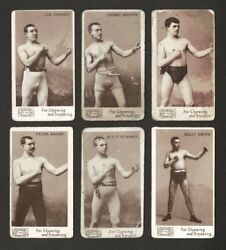 1890 N310 MAYO'S CUT PLUG TOBACCO BOXING CARDS SIX (6) DIFFERENT HALL OF FAMERS