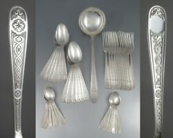 Vintage 1950and039s French Christofle Silver Plate Flatware Set Andldquovilleroyandrdquo 37 Pcs