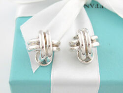 And Co Silver Signature Clip On Earrings Pouch Included