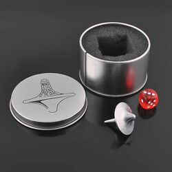 Inception Totem Zinc Alloy Silver Accurate Spinning Top Gyro Dice Gyro Keyholder