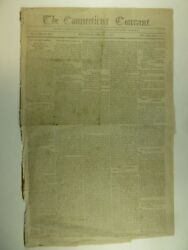 1806 Connecticut Courant Hartford Newspaper Hudson And Goodwin