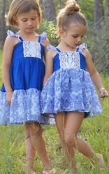 Girls WDW Well Dressed Wolf Blue Travellers Size 6 years EUC (perfect lace)