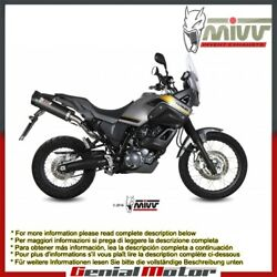 Mivv Exhaust Mufflers Oval Carbon With Carbon Cap Yamaha Xt 660 Z 2008 2016