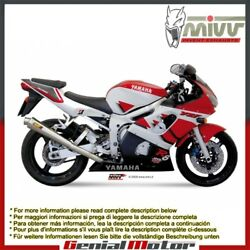 Mivv Exhaust Muffler X-cone Stainless Steel For Yamaha Yzf 600 R6 1999 2002