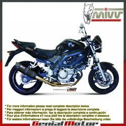 Mivv Exhaust Muffler Suono Black Stainless Steel For Suzuki Sv 650 2012