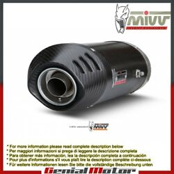 Mivv Exhaust Mufflers Oval Carbon Underseat For Ducati 1198 2009 2012