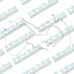 1971-1972 Chevy C10 Gmc C15 Power Brakes 7 Piece Front Brake Lines. Stainless