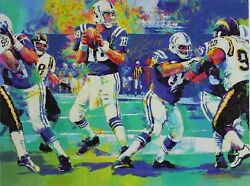 Peyton Manning - Breaking The Record By Malcolm Farley Autographed By Manning