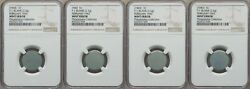 ON SALE 1943 Lincoln Cent 4-Piece Set of Experimental Zinc Test Blanks NGC