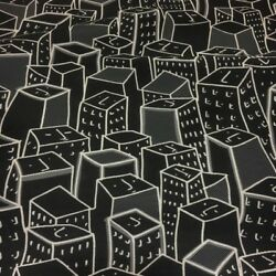 Momentum Places Spaces Faces Black Upholstery Fabric Free Ship Bty SF2218