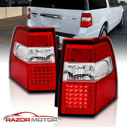 2007-2016 Led Red Brake Back Tail Lights Replacement Pair For Ford Expedition