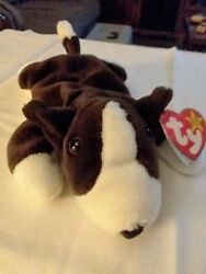 Bruno Terrier beanie Baby 97 authentic rare retired PVC Pellets with error