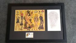 Sailor Jerry Collins Acetate Stencil Tattoo Hand Etched Signed Sj Nude