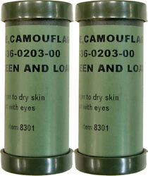 Woodland Green amp; Brown Camouflage Colors Paint Sticks 2 Pack