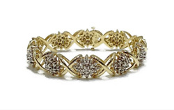 Vintage 14k Gold And Diamond Bracelet 37 Grams Approx 3 Carat One Of A Kind Rare