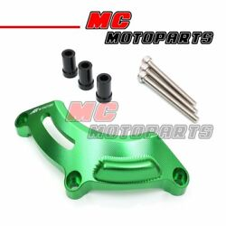 Green CNC Stator Clutch Slider Protector Left Right For Kawasaki Z1000 2014-2018