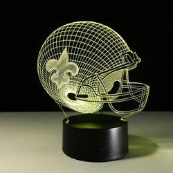 New Orleans Saints Led Light Lamp Collectible Gift Sports Home Decor Drew Brees