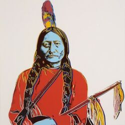 Andy Warhol  Sitting Bull  Authenticated by Andy Warhol Estate