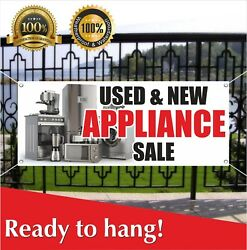 Used And New Appliance Sale Banner Vinyl / Mesh Banner Sign Flag Many Sizes