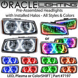Oracle Pre-assembled Halo Headlights For 03-06 Chevy Silverado All Colors 7197