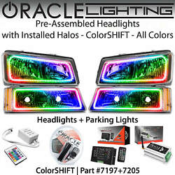 Oracle Pre-assembled Halo Headlights And Parking Lights For 03-06 Chevy Silverado