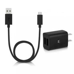 Motorola Oem 2-port Usb Home Phone Charger Wall Travel Power Adapter Cable Cord