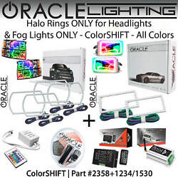 Oracle Square Halo Kit For Headlightsandfog Lights For 07-13 Silverado All Colors