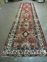 3and039 2 X 13and039 Antique Hand Made Turkish Wool Runner Rug Nice