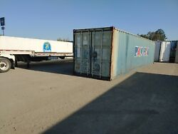 45' Shipping container office survival shed break room grow room.