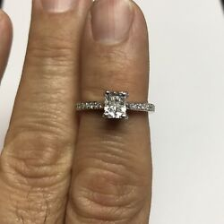 1.22 Ct Certified D Color Diamond Si1 Clarity 100 Natural Engagement Ring