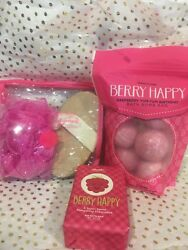 Perfectly Posh Berry Happy Bath Bombs Chunk Gift Bag Set EXCLUSIVE
