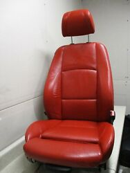 07-13 BMW 328i 335i RIGHT RH PASSENGER FRONT BUCKET SEAT RED SPORT COUPE OEM