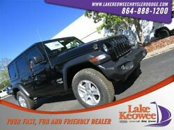 2018 Jeep Wrangler Sport S 2018 Jeep Wrangler Unlimited Sport S 1 Black Clearcoat Convertible Intercooled T