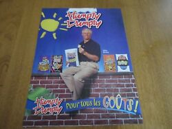 1980s MIKE BOSSY HUMPTY DUMPTY POTATO Chip print ad ISLANERS 8 12 x 11