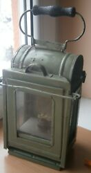 WWII VINTAGE ARMY ARTILLERY OIL lamp light lantern no mark